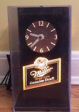 Miller High Life Genuine Draft Lighted Cube Clock Tested Working Vintage