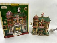 Lemax Village Collection Jingle Bell Junction Christmas Shop Lighted 2007 75645S