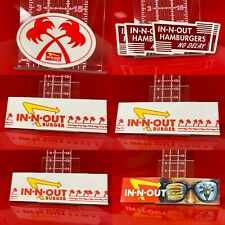 Lot of In-N-Out Burger : 3 Paper Hats 5 Stickers & 1 Bumper Sticker Fast Food
