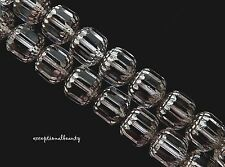 20 Preciosa Czech Glass 10mm Faceted Crystal Clear Silver Cathedral Rosary Beads