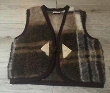 100% MERINO WOOL Baby Boy Girl Kids Gilet Body Warmer Vest 1-2 YEARS (v7) XS