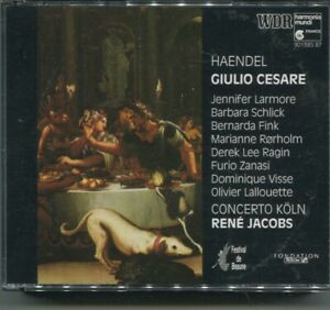 4CD Box Händel: Giulio Cesare - Larmore Schlick Fink (Harmonia Mundi) 1991