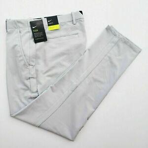 Nike Vapor Flex Men's 34x32 Gray Slim Fit Golf Pants BV0273-042
