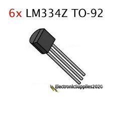 6pcs LM334Z TO-92 Adjustable Current Sources and Temperature Sensor LM334