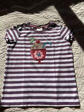 Hanna Andersson Girl's Ice Cream Sundae Appliqué T-Shirt Size 150 12