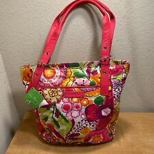Vera Bradley Puffy Tote Shoulder Bag Pink Clementine Quilted Floral