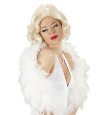 Ladies Long Blonde Marilyn Wig Sexy Movie Star 50s 60s Burlesque Fancy Dress