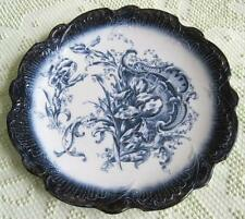"""1896-1912 Empire Porcelain Works Blue Iris Transfer Ware 12.5"""" Round Charger"""