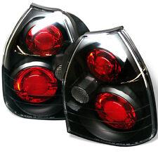 Honda 96-00 Civic 3dr Hatchback Black Rear Tail Lights Brake Lamp Set CX DX