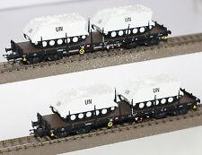 Rivarossi H0 HR6207 Set mit 2 Rungenwagen der DB und 4 M113 Panzern der UN Neu