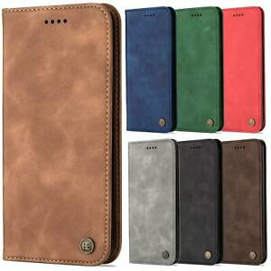 For Motorola Moto G9 Plus Case Flip Suede Wallet Leather Folio Magnetic Cover