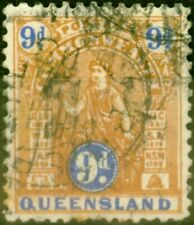 Queensland 1903 9d Brown & Ultramarine SG265 Fine Used