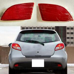 2Pcs For Mazda 2 2007-2016 Rear Bumper Left Right Side Tail Fog Light Reflector