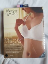 2 Pack B Marvellous Mothercare Firm Support Bra Black White 32E £30 100% Cotton