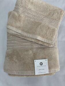 "Hotel Collection Turkish Cotton Large Bath Towel CREAM 30""x 56""+ Free Hand towel"