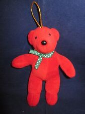 """North American Bear #7054 Bare Bear Baby 1979 Christmas Ornament Red 5.5"""" NWT"""
