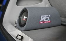 "AMPLIFIED MTX 8"" RT8PT Bass Tube Subwoofer Enclosure w Remote Bass Control"