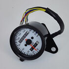 Motorcycle Gauges Dual Odometer KMH Speedometer Gauge LED Backlight Signal Light