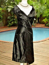 Dramatic+Sexy Vivienne Westwood Dress *Eve LBD  'VW' Cross Logo Buttons S FR36 4