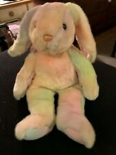 """NWT LARGE13"""" Beanie Buddy HIPPIE Bunny Rabbit Spring Easter Colors 1999"""