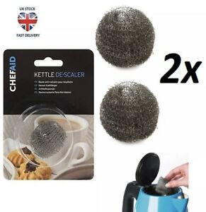 2x Meshy Kettle Descaler Stainless-Steel Metal Furring Remover Limescale Cleaner