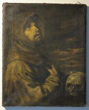 c.1900 old master copy Francisco de Zuraban St. Francis oil painting