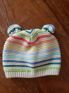 Rainbow Baby Gap 0-3 Month Knitted Hat Beanie