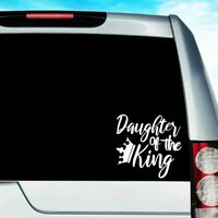 "4.5"" Daughter of The King Decal Sticker Jesus God  Christ Savior Bible Verse Car"