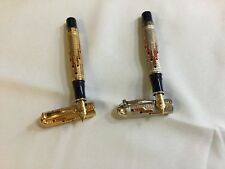 MONTEGRAPPA 88TH ANNIVERSARY FOUNTAIN PENS MEDIUM NIB RARE GOLD  AND SILVER SET