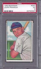 1952 Bowman #247 John Pramesa Chicago Cubs Professionally Graded PSA 5 EX