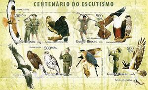 Guinea-Bissau Scouting Stamps 2006 MNH Birds of Prey Osprey Buzzards 4v M/S