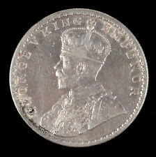 1916 George V India One Rupee Silver Coin Circulated
