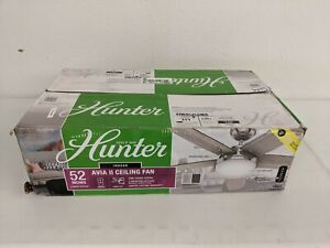Hunter Avia II LED 132cm Brushed Nickel LED Indoor Ceiling Fan with Remote 59601