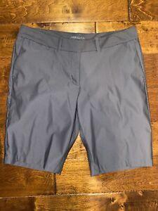 Nike Golf Womens Dark Gray Dri Fit Solid Shorts Size 10