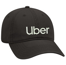 Black Dad cap Customized with UBER  embroidery design.