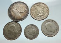 GROUP LOT of 5 Old SILVER Europe or Other WORLD Coins for your COLLECTION i75486
