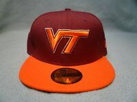 New Era 59fifty Virginia Tech Hokies 2-Tone BRAND NEW cap hat Fitted VT Va Tech