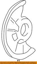 FORD OEM Disc Brake-Front-Backing Plate Dust Splash Shield F81Z1214AA