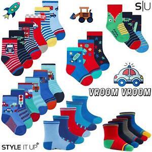 Newborn Baby Boys Toddlers Cotton Rich Design Socks Durable Soft Comfortable