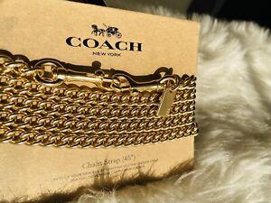 NWT Coach Shoulder Crossbody Chain Strap Gold Tone F31126