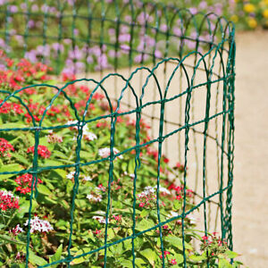 Garden Border Fence Green PVC Coated Wire Lawn Path Edge Edging Decorative Fence