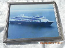 FRAMED AND GLAZED PHOTOGRAPH     M. S. ROTTERDAM  (HOLLAND AMERICA LINE)