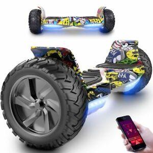 8.5''Hoverboard All Terrain Hummer Self Balancing Board Off Road Segway Hip-Hop