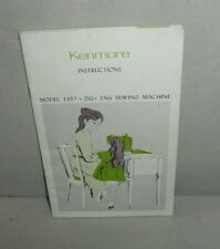 Kenmore Instruction Manual Model 1357 Zig Zag Sewing Machine F1E