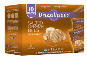 Drizzilicious Mini Rice Crisps, Salted Caramel Flavour - 10 x 21g