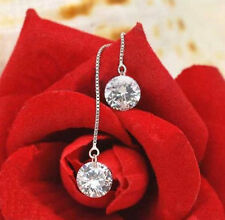 New Fashion Sliver Crystal Ear Wire Diamond Earrings Ear Line Jewelry