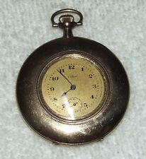 Antique Working 1918 ELGIN Ladies Gold Pendant Watch Pocket Watch 7j