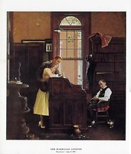 Norman Rockwell Young Love Print THE MARRIAGE LICENSE