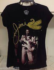 NWOT Ladies JIMI HENDRIX GUITAR GOLD GLITTER BLACK Tee Shirt Large NEW