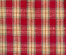 Longaberger Orchard Park Plaid Fabric Remnant 29 x 18 zip bag 0 ship